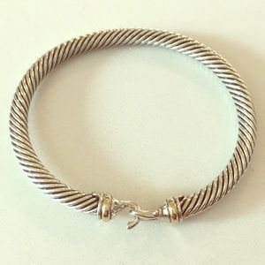David Yurman Cable Classic Buckle Bracelet w/ gold